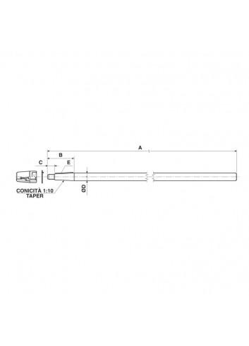 WNAP40-1500-KPL - Wał ⌀40, l:1500 : standardowy stożek 1:10 -