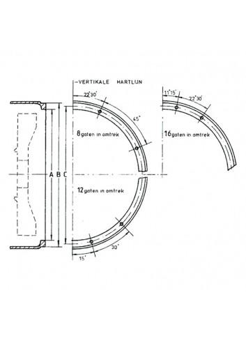 - Flansza SAE 7 do HBW 250 (otwór Ø 92 mm)) -