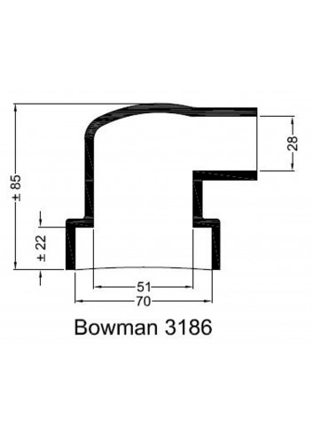 - Dekiel chłodnicy Bowman 3186 -