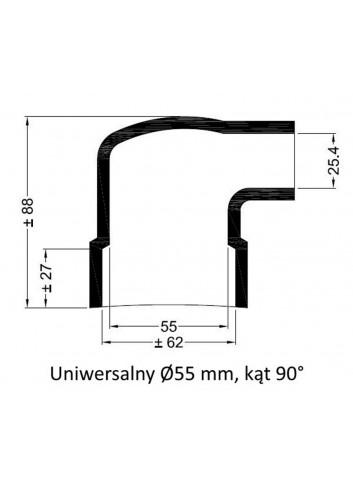 - Dekiel uniwersalny Ø 55 mm kąt 90° -