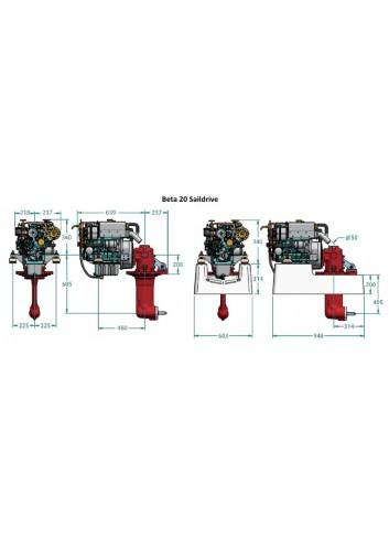 BETA20-SD - Silnik Beta  20 Saildrive -