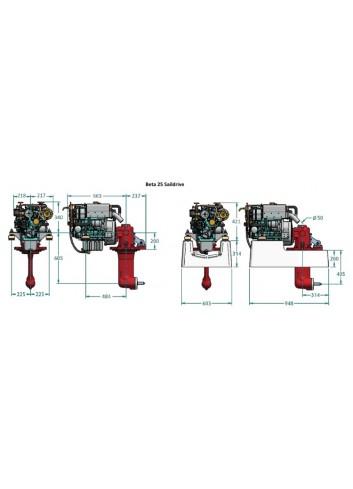 BETA25-SD - Silnik Beta  25 Saildrive -