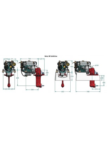 BETA38-SD - Silnik Beta  38 Saildrive -