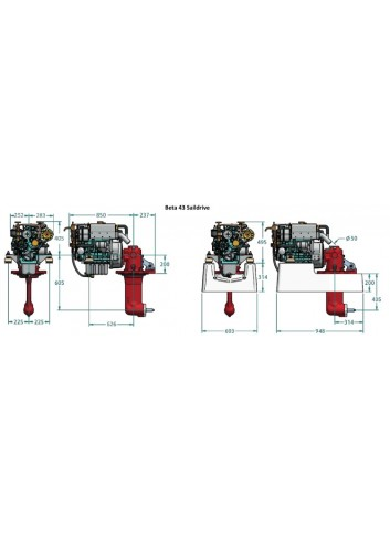 BETA43-SD - Silnik Beta  43 Saildrive -