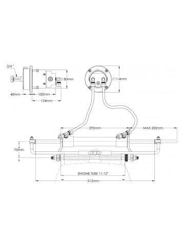 - Hydrauliczny układ sterowania FB150 - do silników zaburtowych -