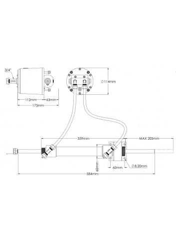 - Hydrauliczny układ sterowania EB75 - do silników stacjonarnych -