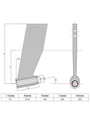 PODPWALU35 - Podpora wału napędowego SP ø35 -